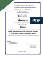 Etude et redimensionnement de la station de pompage d'eau de groupe CEVITAL A IBOURASSEN ( Béjaia).pdf