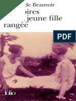 Memoires d'une jeune fille rang - Simone de Beauvoir