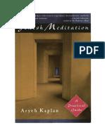 Jewish Meditation aryeh Kaplan Traducido español