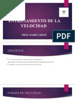 ENTRENAMIENTO DE LA VELOCIDAD CHARLA SABADO
