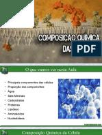 composição química da celula
