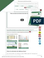 Filtrer et extraire les données Excel selon critères