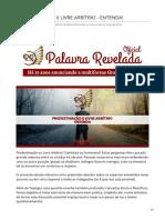 palavrareveladaoficial.com.br-PREDESTINAÇÃO X LIVRE ARBÍTRIO - ENTENDA