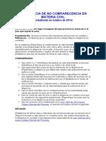 CONSTANCIA DE NO COMPARECENCIA EN MATERIA CIVIL