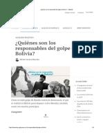 ¿Quiénes son los responsables del golpe en Bolivia? — CELAG