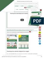 Planning Excel automatique pour le salarié et ses congés