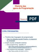 Historia Linguagens da Programacao