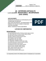 Alarma Antirrobo-Antiasalto Con Sensor Microfonico Incorporado (Dos Zonas) Nª291