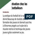 La motivation chez les footballeurs pdf