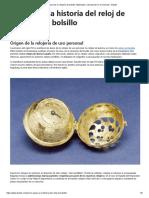 Historia de la relojería de bolsillo. Materiales y asentación en el mercado - Balclis.pdf