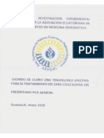 Ensayo Clinico Dioxido de Cloro - DOCUMENTADO - C0V1D