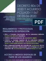Decreto 806 de 2020 y Acuerdo Cpcsja20-11567