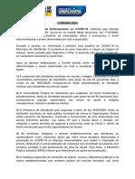 Comunicado - Comitê COVID-19 - 17.03.2020