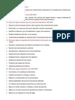 CUESTIONARIO DE MANTENIMIENTO INDUSTRIAL