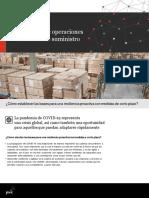 disrupcion  en la cadena de suministros por COVID 19