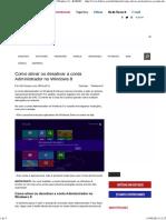 Como ativar ou desativar a conta Administrador no Windows
