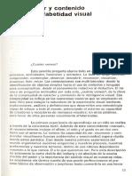 Caracter y Contenido de La Alfabetidad Visual- Dondis a Donis