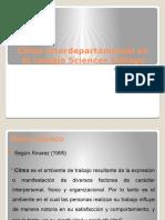 Diagnóstico de Clima interdepartamental en el colegio Sciences College