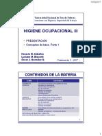 1- Higiene III - 2017-I Presentacion y Conceptos de base 1