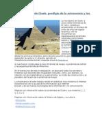 Las pirámides de Gizeh