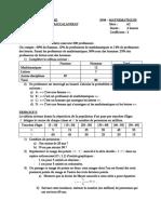BAC  2008 - Gabon - Maths série A2