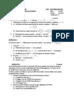 BAC  2008 - Gabon - Maths série FMI
