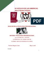Masslow en la Psicología Organizacional - Reporte