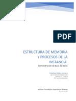 Estructura de memoria y procesos de la instancia
