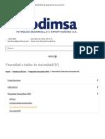 Viscosidad e índice de viscosidad (IV) - Prodimsa
