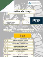 Presentation de gestion du temps1