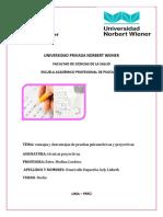 Ventajas y Desventajas de Pruebas Psicometricas y Proyectivas