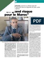 Le Pr Hassan Bougantouche, associé au cabinet suisse de