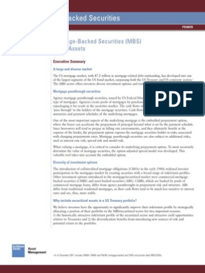 Goldman Sachs] Introduction to Mortgage-Backed Securities