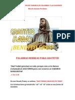 PALABRAS HEBREAS PARA GRATITUD edit