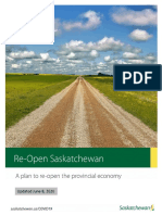 Reopen Saskatchewan Plan, June 8 2020