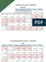 Arizona Diamondbacks 2011 Schedule - MLB Fantasy Baseball - National (NL) League - D-Backs