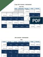 Detroit Tigers 2011 Schedule - MLB Fantasy Baseball - American (AL) League
