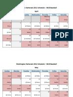 Washington Nationals 2011 Schedule - MLB Fantasy Baseball - National (NL) League