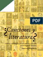 ¿Canciones y literatura