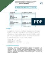 VALORE, ETICA Y MORAL ARQUITECTURA 2020 I