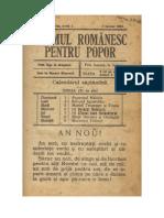 Neamul Romanesc Pentru Popor - Anul Al VII-Lea, N-rul 1-3 Ianuarie 1916