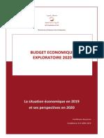 Budget économique exploratoire 2020 (Version Fr)