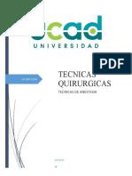 TECNICAS DE ANESTESIA EN ODONTOLOGIA