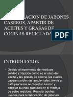 ELABORACION DE JABONES CASEROS, APARTIR DE