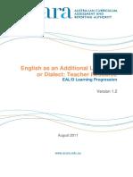 EALD Resource - EALD Learning Progression