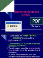 SAT- Identifying Errors