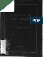 Como vivió y murió Felipe II-Sigüenza 1928.pdf