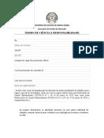 ANEXO III Termo de Ciência e Responsabilidade Teletrabalho
