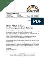 1999-12 Neues Forum Sachsen gegen Kampfpanzer an Tuerkei