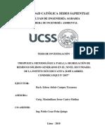 PROPUESTA METODOLÓGICA PARA LA SEGREGACIÓN DE RESIDUOS SÓLIDOS GENERADOS EN EL NIVEL SECUNDARIA DE LA INSTITUCIÓN EDUCATIVA JOSÉ GABRIEL CONDORCANQUI Nº 2057